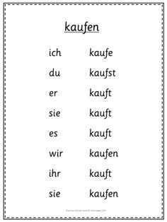 German irregular verb nehmen present tense conjugation