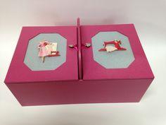Melody Jane Dolls House Miniature mercerie couture Boîte de coton bobines fil