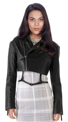 New Women's Leather Motorcycle Biker Jacket 100% Genuine Soft Lambskin #N69 #NationalLeather #MotorcycleBomber