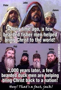 so i don't really like duck dynasty but i do love how they keep God in their lives