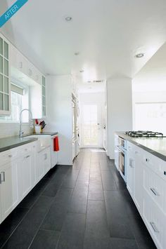 www.carolinawholesalefloors.com has more flooring and design options OR check out our Facebook - https://www.facebook.com/pages/Carolina-Wholesale-Floors/203627269686467?ref=tn_tnmn Kitchen flooring idea - longer tiles... maybe