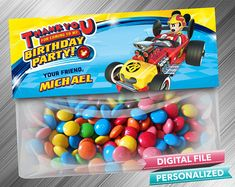 Mickey Roadster Racers Treat Bag Toppers