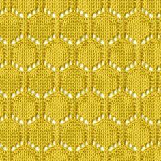 Lace Circular Honeycomb Knitting Stitch. Ажурные узоры