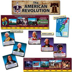The American Revolution Mini Bulletin Board Set teach a variety of social studies concepts.