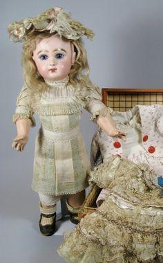 French Tete Jumeau Bebe Doll Original Dress  #dollshopsunited