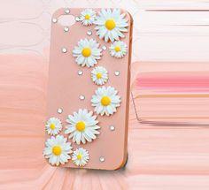 Yellow-white Flower diy deco phone case kit  deco case kit diy(Phone Case not Included). $6.90, via Etsy.