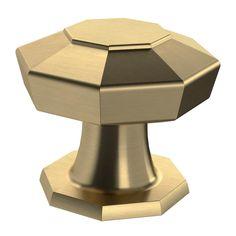 Martha Stewart Living Faceted 1-3/16 in. Champagne Bronze Cabinet Knob