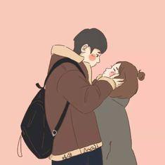 Cute Couple Comics, Cute Couple Cartoon, Cute Couple Art, Cute Love Cartoons, Anime Love Couple, Cute Couple Pictures, Cute Comics, Cute Couples, Cute Couple Drawings