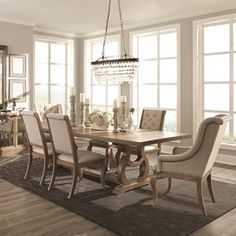 Browse and compare Dining Room Sets products at Knight Furniture Rectangle Dining Table, Farmhouse Dining Room, Upholstered Dining Chairs, Furniture, Dining Table Setting, Home Decor, Dining Table, Dining Room Sets, 7 Piece Dining Set