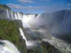 Iguazu 275 water falls in one place.