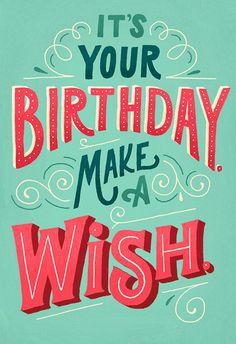 Sélection de typographie #59 : Birthday - Le Papier fait de la Résistance…