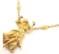 "Salvador Dali ""Carmen La Crotalos"" Yellow Gold Necklace image 2"
