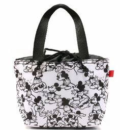 Disney Mickey Mouse Black & White Lunch Tote