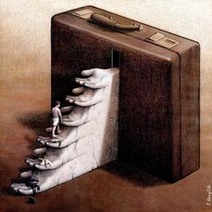 Oeuvre by Pawel Kuczynski Satire, Satirical Illustrations, Art Folder, Social Art, Art Academy, Elephant Love, Beauty Shots, Surreal Art, Funny Art