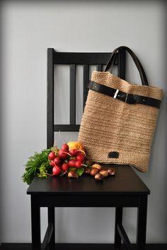 вязание из джутового шпагата, вязание из шпагата, сумки из шпагата, эко-сумка, хозяйственная сумка, вязаная сумка из шпагата