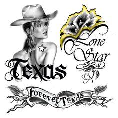 Cool TEXAS #4 Temporary Tattoo sheets photo