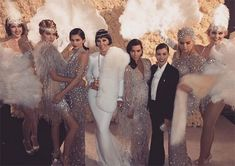 Kardashians & Jenners from Kris Jenner's Great Gatsby-Themed 60th Birthday Party
