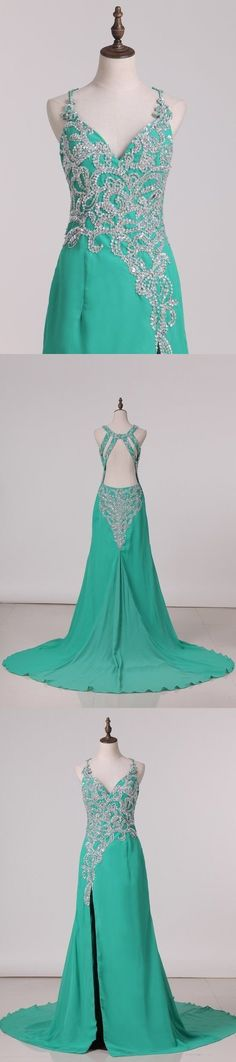 2020 Sexy Open Back Halter Beaded Bodice Prom Dresses PN9ZLQK7, This dress could be custom made, there are no extra cost to do custom size and color Cheap Evening Dresses, Cheap Prom Dresses, Formal Dresses, Split Prom Dresses, Mermaid Prom Dresses, Sweetheart Prom Dress, Trumpet Skirt, Pleated Bodice, Special Occasion Dresses
