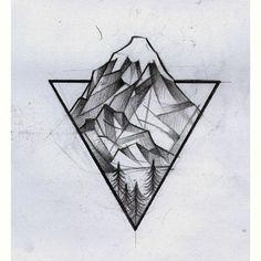 Tattoo • Triangle & Landscape •