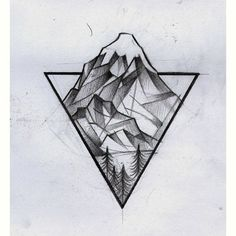 Tattoo • Triangle & Landscape •