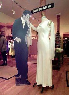 Carolyn Bessette wedding dress.