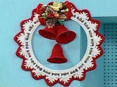 Receitas Círculo - Guirlanda de Natal Branca e Vermelha