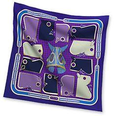 Hermes Women's Medium Silk Twill Scarves in Purple | Hermes.com