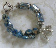 Lampwork Bead Handmade Beaded Bracelet por bdzzledbeadedjewelry