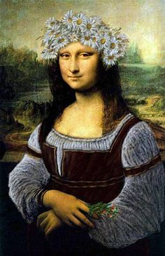 Meanwhile at the dacha... - Ginn The Mona Lisa In The Russian Dress Mixed Media