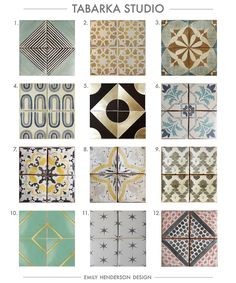 Cement Tile RoundUp Tabarka Studio Patterned Tiles Emily Henderson Cement Tile Backsplash, Mosaic Wall Tiles, Kitchen Wall Tiles, Bathroom Floor Tiles, Cement Tiles, Tiling, Tabarka Tile, Cement Crafts, Article Design