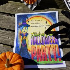 Throw a stylish Halloween party, starting with the invitation! Get yours from the Splash of Color Halloween Special, or download for FREE today!