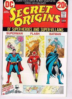 DC Comics No. 1February - March 1973 : Secret Origins Of Super-Heroes and Super-