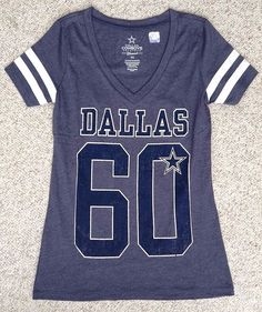 DALLAS COWBOYS GIRLS YOUTH SHORT SLEEVE 100/% COTTON T SHIRT S M L XL NWT GLITTER