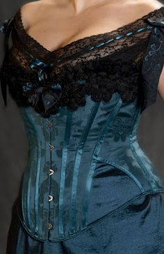 Beautiful new corset made by Period Corsets.