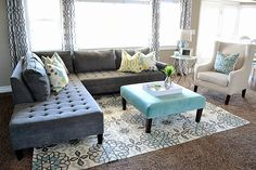 We loved @Sita Montgomery's living room makeover so much, we needed to post another photo. Features our Vapor Sectional.
