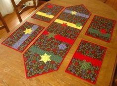 Advanced Embroidery Designs. Free Projects and Ideas. Quilted kitchen mats with redwork embroidery.