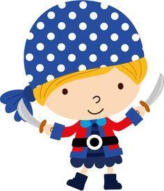 niños piratas caricaturas png - Buscar con Google