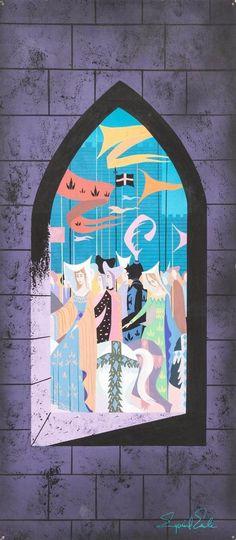 Eyvind Earle Sleeping Beauty Castle and Parade Concept Lot 95224 | eBay
