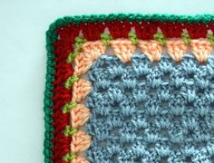 Stunning, granny square edging how to...in picture form.