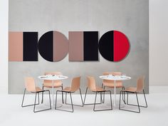 Parentesit round modular acoustic panel - Akustik ve Ses Yalıtımı Soundproof Panels, Acoustic Wall Panels, Wall Panel Design, Modular Walls, Open Office, Co Working, Cafe Chairs, New Wall, Office Interiors