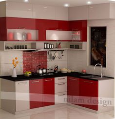 Excellent No Cost modular Kitchen Cabinets Concepts Your kitchen cabinets set the stage for the styling and look of your kitchen, along with how well or Kitchen Cabinet Interior, Kitchen Cupboard Designs, Kitchen Room Design, Modern Kitchen Cabinets, Modern Kitchen Design, Interior Design Kitchen, Kitchen Decor, Kitchen Laminate, Moduler Kitchen