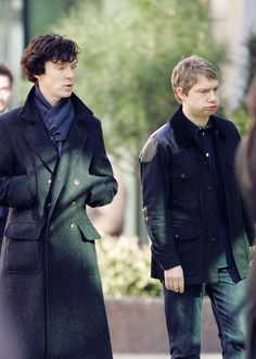 Benedict Cumberbatch & Martin Freeman <3 #Sherlock #Setlock #ThereFaces