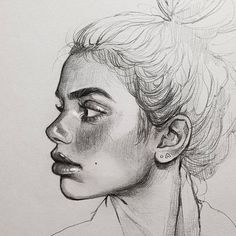 My Sketchbook Art I Drawing Girls I Cute dreamy portrait Sketch of a girl I D. Cool Art Drawings, Pencil Art Drawings, Art Drawings Sketches, Realistic Drawings, Art Du Croquis, Arte Sketchbook, Sketch Painting, Drawing People, Person Drawing