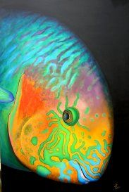 Surf parrot fish I'm am painting my face up to look like this beautiful fish next costume party!