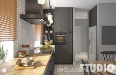 kuchnia w domku na wsi - zdjęcie od MIKOŁAJSKAstudio
