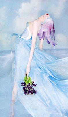 Blue dress girl