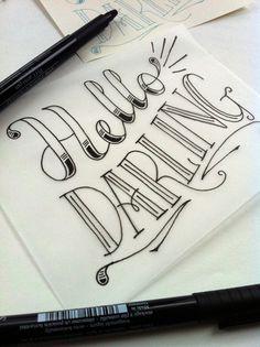 """Lorsqu'on combine écriture et illustration, les résultats ne déçoivent jamais. Astuce: Utilisez la technique du """"zendoodle"""" pour reproduire cette calligraphie complexe."""