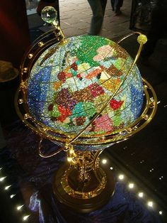 swarovski globe | Swarovski crystal globe- I spinn the globe & see my next adventure...
