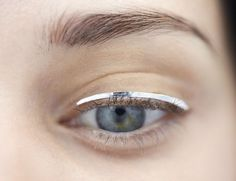 Silver Foil Eyeliner - photoshoot makeup inspiration // Christian Dior Fall 2014