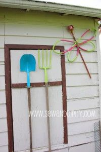 How to make a recycled garden supply dragonfly · Recycled Crafts | CraftGossip.com